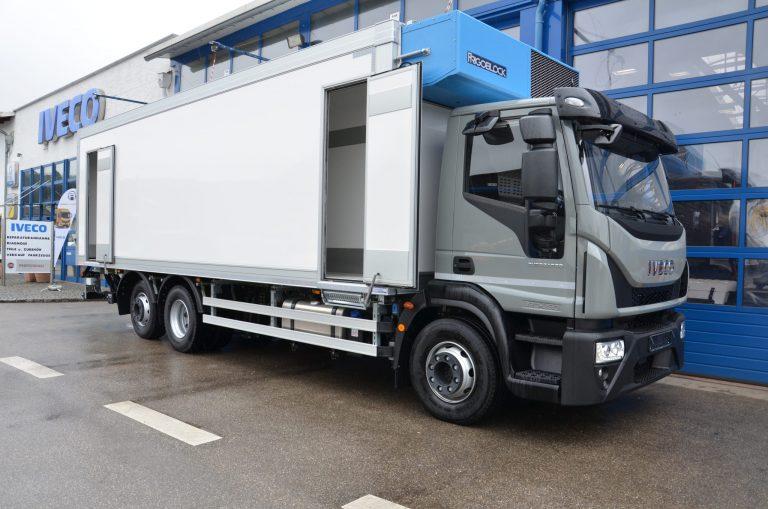 Lebensmitteltransport – Iveco Eurocargo mit Fuhrmann Kühlkoffer