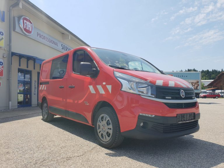 Kommunaleinsatz – Fiat Talento Kastenwagen mit Sortimo