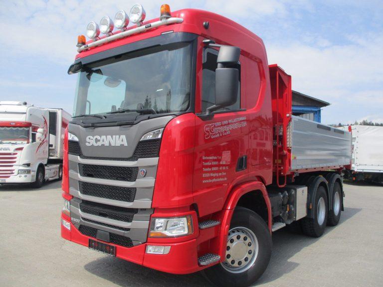 Erd- und Pflasterbau – Scania R500