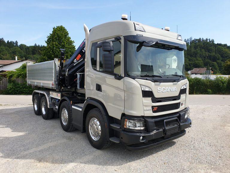 Ladekran – Scania G-Reihe G500 XT